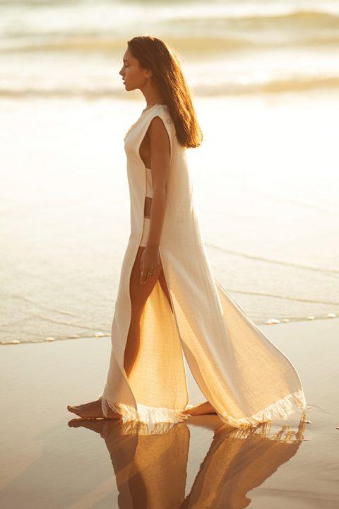 NATURAL OLIVIA MAXI DRESS