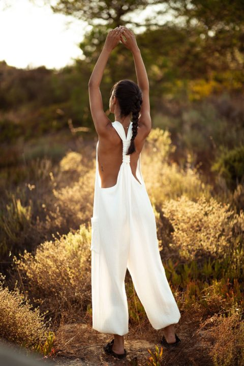 WHITE SHELL MARIA JUMPSUIT