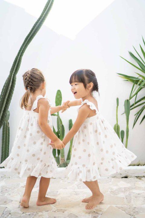 ☆ BEGE DOTS ROSARINHO DRESS